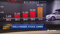 Tesla stock rockets despite miss
