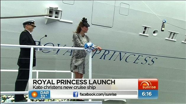 Duchess launches cruise liner