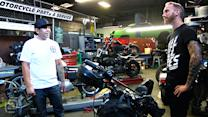 Amazing One-Of-A-Kind Custom Harley Davidson Bikes For Racing: Garage Tours w/ Chris Forsberg