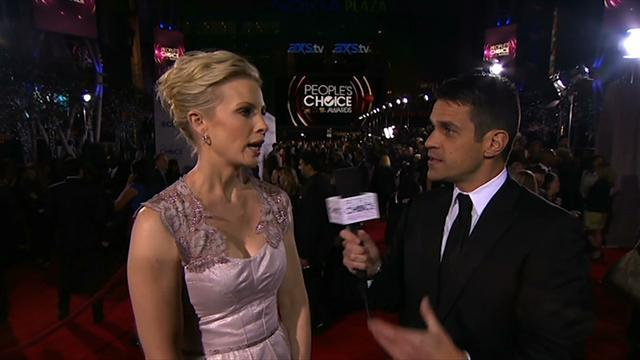 39th Annual People's Choice Awards - Red Carpet Interview: Monica Potter