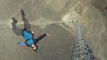 Aerial PHEW! BASE Jumper Climbs 1500ft Antenna Without Safety Rope