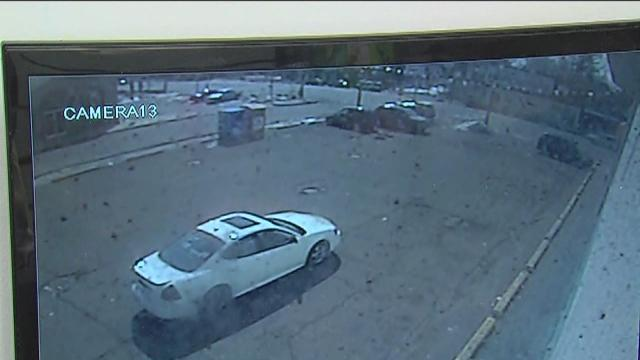 Dollar store parking lot crime caught on surveillance video