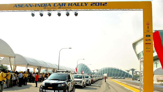 ASEAN Rally being flagged-off from Singapore