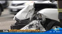 5PM UPDATE | Woman and 2 children hurt in crash on I-805