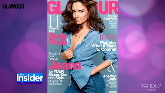Katie Holmes Poses Topless Wearing Mom Jeans