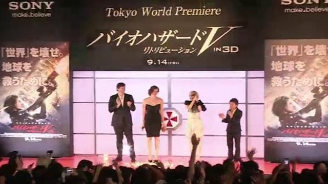 Milla Jovovich Attends Resident Evil: Retribution World Premiere in Japan