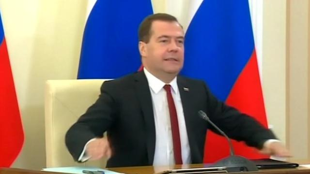 Russian prime minister angers Ukraine by visiting Crimea