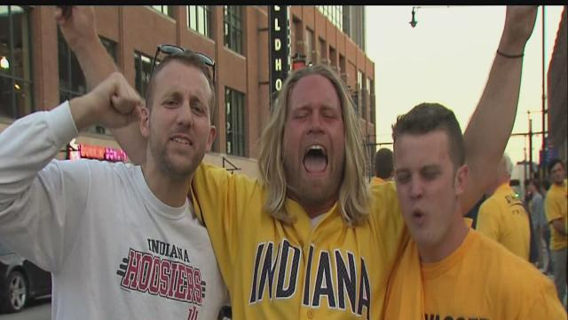 Fans celebrate Pacers' Game 7 win over Atlanta Hawks