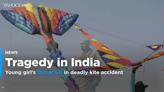 Indian girl's throat slit in spate of deadly kite accidents
