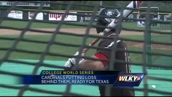 Louisville preparing to face Texas at College World Series