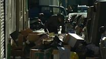 Rubbish piles up in Madrid as refuse collectors strike