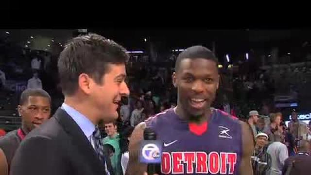 Detroit's Doug Anderson wins 2013 Dunk Contest: the interview