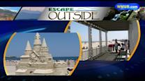Escape Outside: Hampton Beach sand sculptures, Gov. Hassan on an ATV
