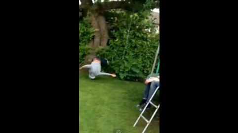 Attempt to ride home zip-wire goes wrong