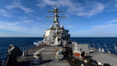 敏感時刻!美軍艦穿越台灣海峽