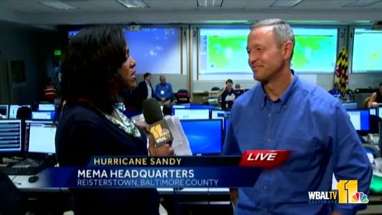 Gov. O'Malley: Storm is moving faster