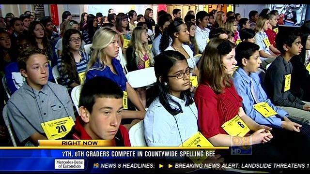 Seventh, eighth graders compete in countywide spelling bee
