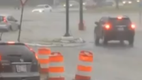 Maryland Street Floods in Heavy Rain