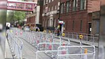 Hospital Gates Set Up For Kate Middleton's Arrival