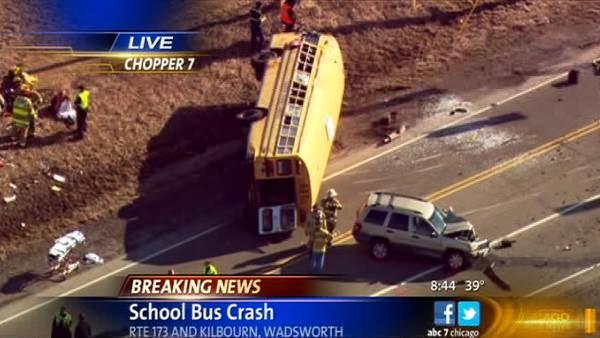 1 adult dead, no children seriously injured, in Wadsworth school bus crash