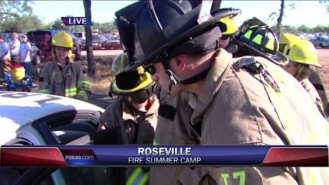 Watch: Kids Learn To Use Jaws Of Life At Summer Camp