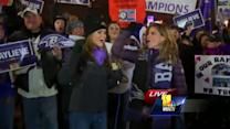 Ava and Natalie Morales throw down Ray Lewis style