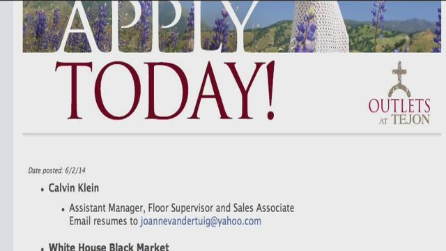 Tejon Ranch Outlets look to hire at least 1,500