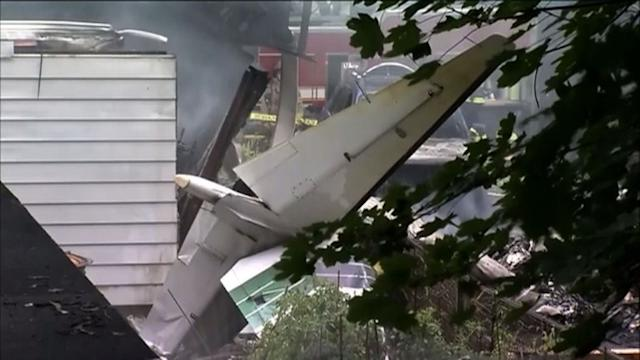 Small plane crashes into two CT homes, two bodies found