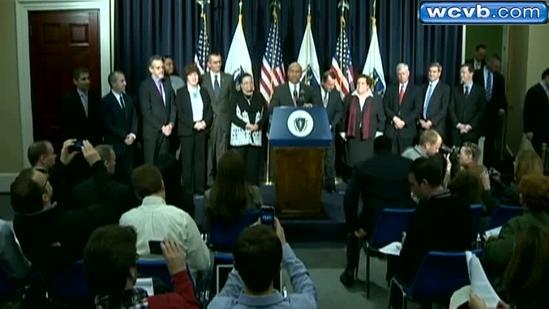 Gov. Deval Patrick reacts to cabinet changes
