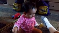 Baby Falls Backwards and Hits Head on Mirror