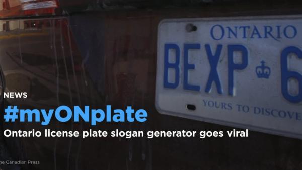 Myonplate Ontario License Plate Slogan Generator Goes Viral