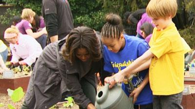 First Lady Plants White House Garden