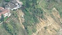 Raw: Homes Near Landslide in Washington
