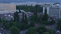Raw:  Pro-government Supporters Gather in Athens
