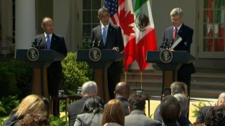 Stephen Harper heads to Mexico for 3 Amigos meeting