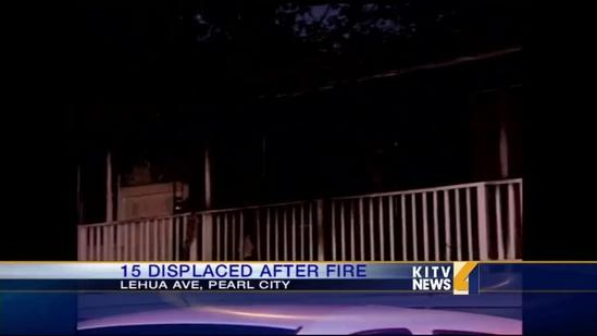 Apartment fire leaves 15 people homeless