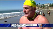 8 Law Enforcement Officers Go On All-Night Swim For Charity
