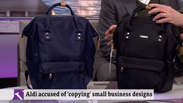 d9627d7dc51 Aldi accused of copying Bababing Mani Mani Backpack Changing Bag