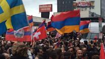 Armenians March on Turkish Consulate in Los Angeles