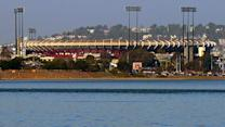 Candlestick Park looks eerie awaiting demolition