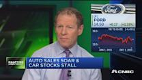 Why auto sales are soaring while car stocks stall