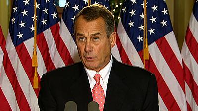 Boehner on Fiscal Cliff: Hope Pres. Gets Serious