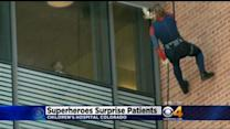 'Superheroes' Rappel Down Children's Hospital To Delight Patients