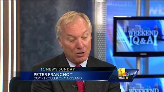 Peter Franchot Sunday Q & A guest