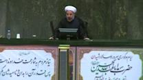 """Rouhani says Iran rejects threats, cites """"red lines"""" in nuclear talks"""