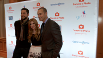 Zachary Levi, Nigel Barker and Katherine McNamara Team up with #DonateaPhoto at Times Square Season of Giving Kick off