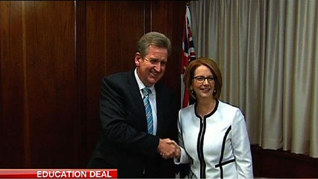 Gillard hopes other states will sign Gonski