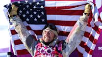 Sage Kotsenburg all smiles after golden run