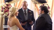 The Rock surprises his superfan 'bestie' by officiating his wedding