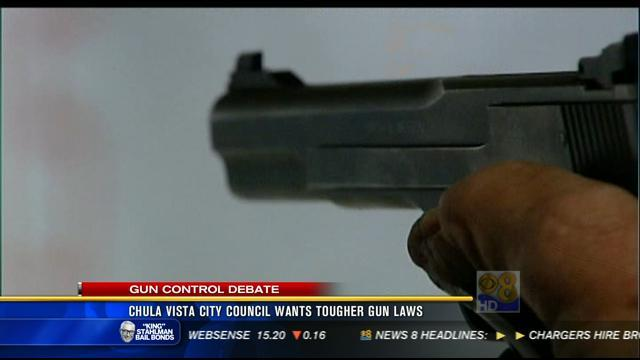 Chula Vista City Council wants tougher gun laws
